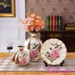 Bình gốm sứ chim và hoa đẹp tại LaDora.vn