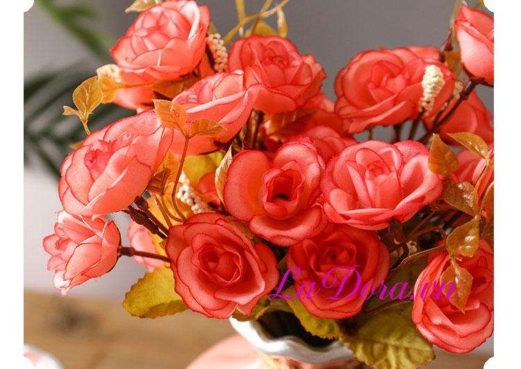 bình gốm sứ chim và hoa đẹp trang trí nhà