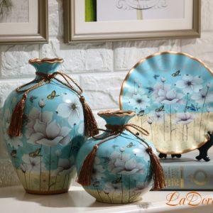 Bộ bình gốm đẹp tinh tế trang trí phòng khách