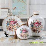 Bình hoa gốm sứ trang trí phòng khách đẹp