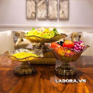 đĩa đựng trái cây trang trí đẹp tại shop bán đồ trang trí nhà ở hà nội ladora