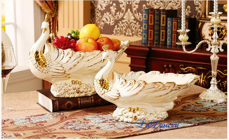 Đĩa đựng trái cây đẹp tại shop bán đồ trang trí nhà ở hà nội ladora