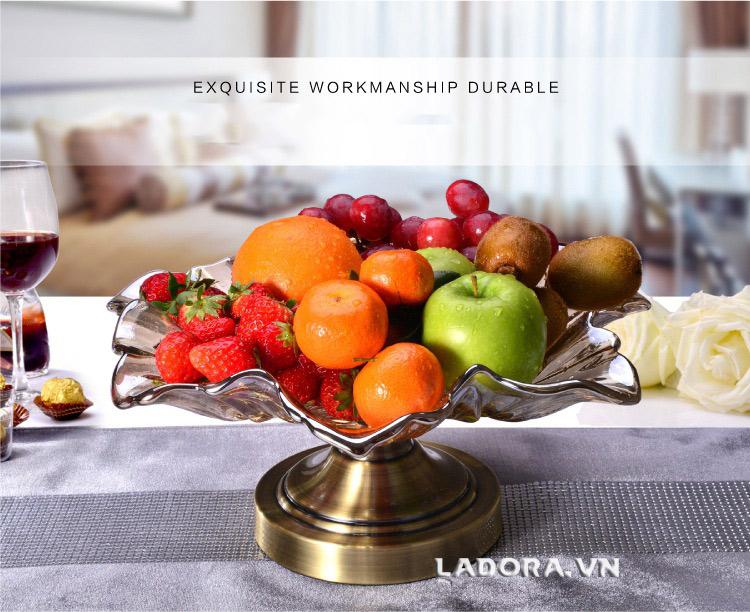 đĩa đựng trái cây thủy tinh cao cấp tại ladora shop