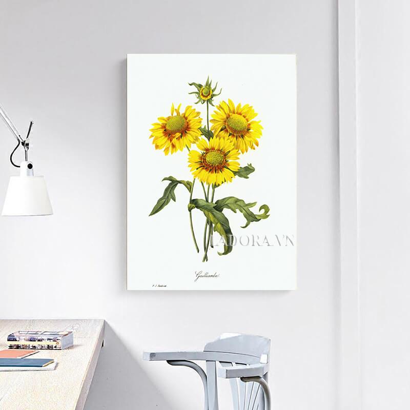tranh treo tường hoa hướng dương tại ladora
