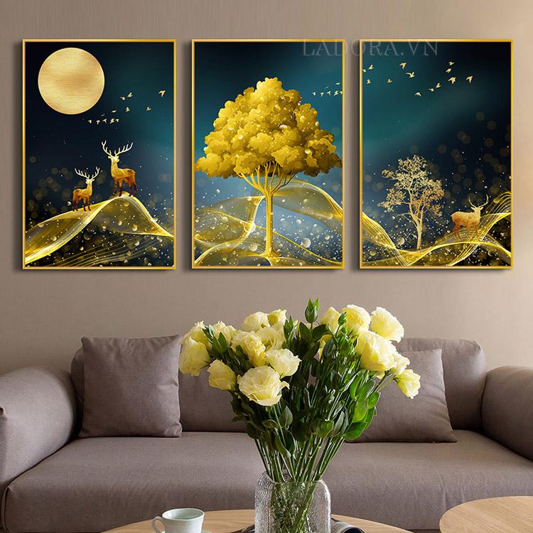 Tranh trang trí phòng khách đẹp tại Ladora.vn