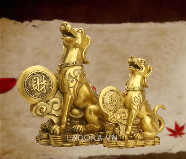 tượng chó bằng đồng có ý nghĩa phong thủy tại ladora.vn