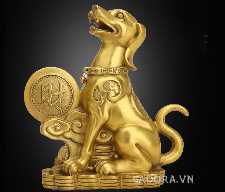 tượng chó bằng đồng tại ladora.vn