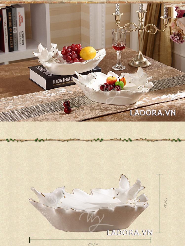 đĩa đựng hoa quả đẹp tại ladora.vn