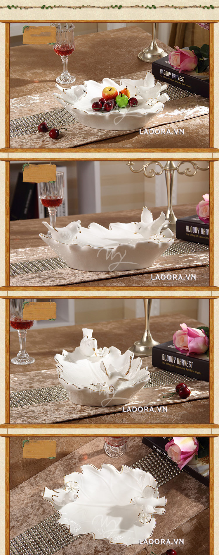 đĩa đựng hoa quả đẹp tại ladora.vnđĩa đựng hoa quả đẹp tại ladora.vn