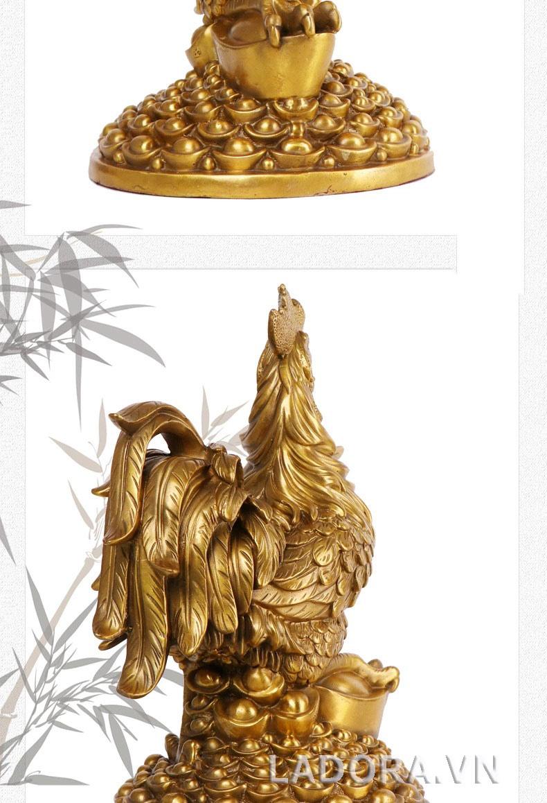 tượng gà bằng đồng tại ladora shop