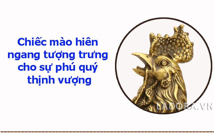 mào gà tượng trưng cho quan lộc