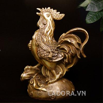 tượng gà bằng đồng phong thủy tại ladora shop