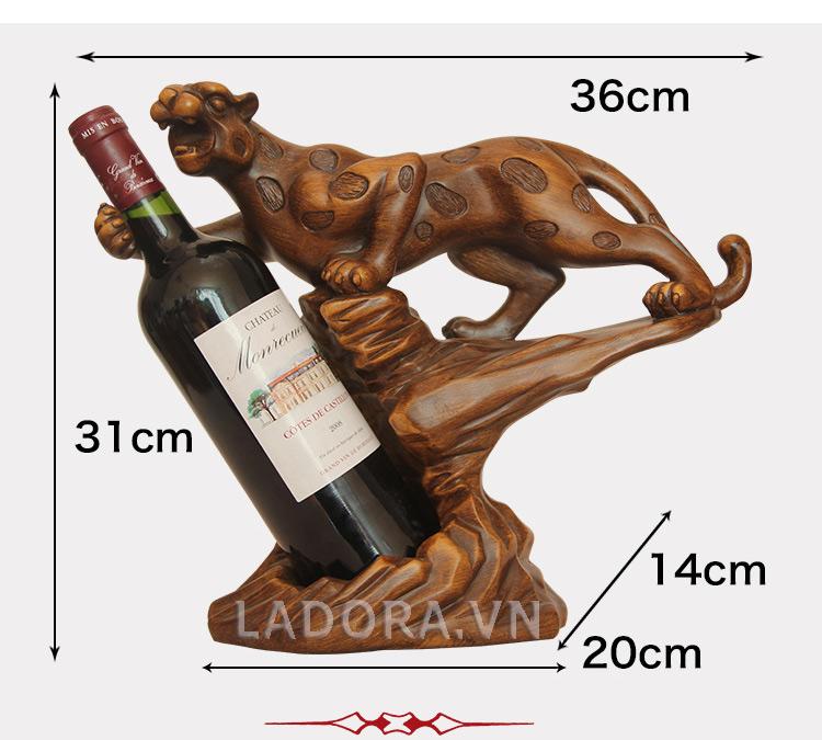 kích thước giá để rượu báo đốm tại ladora shop