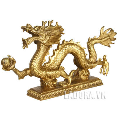 tượng con rồng bằng đồng tại ladora shop