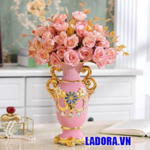 bình gốm sứ trang trí đẹp tại shop bán đồ trang trí nhà đẹp ladora ở hà nội