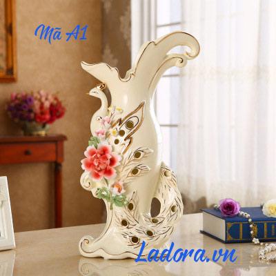 bình hoa gốm sứ đẹp tại shop bán đồ trang trí nhà ladora