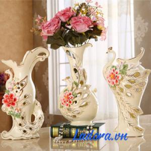 bình hoa sứ trắng cao cấp tại ladora shop ở hà nội