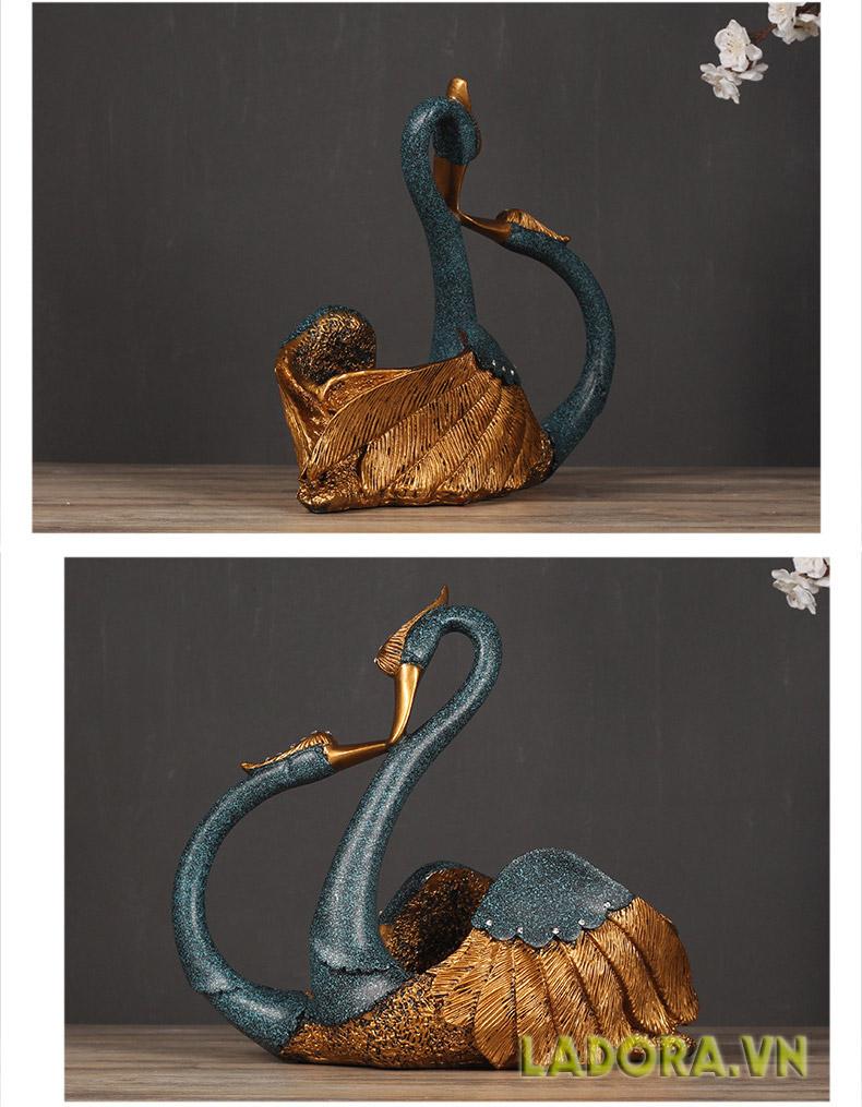 Kệ rượu vang Thiên nga biểu trưng cho sự cao quý - shop bán đồ trang trí nhà ladora