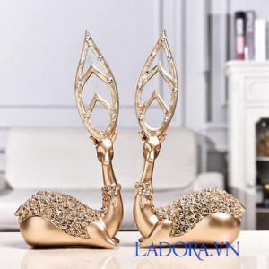 cặp hươu trang trí độc đáo - sản phẩm bán chạy tại Ladora shop