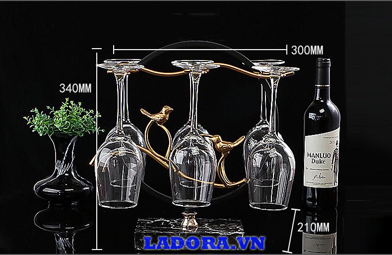 Kích thước gia treo ly rượu vang tại shop bán đồ decor tại hà nội ladora