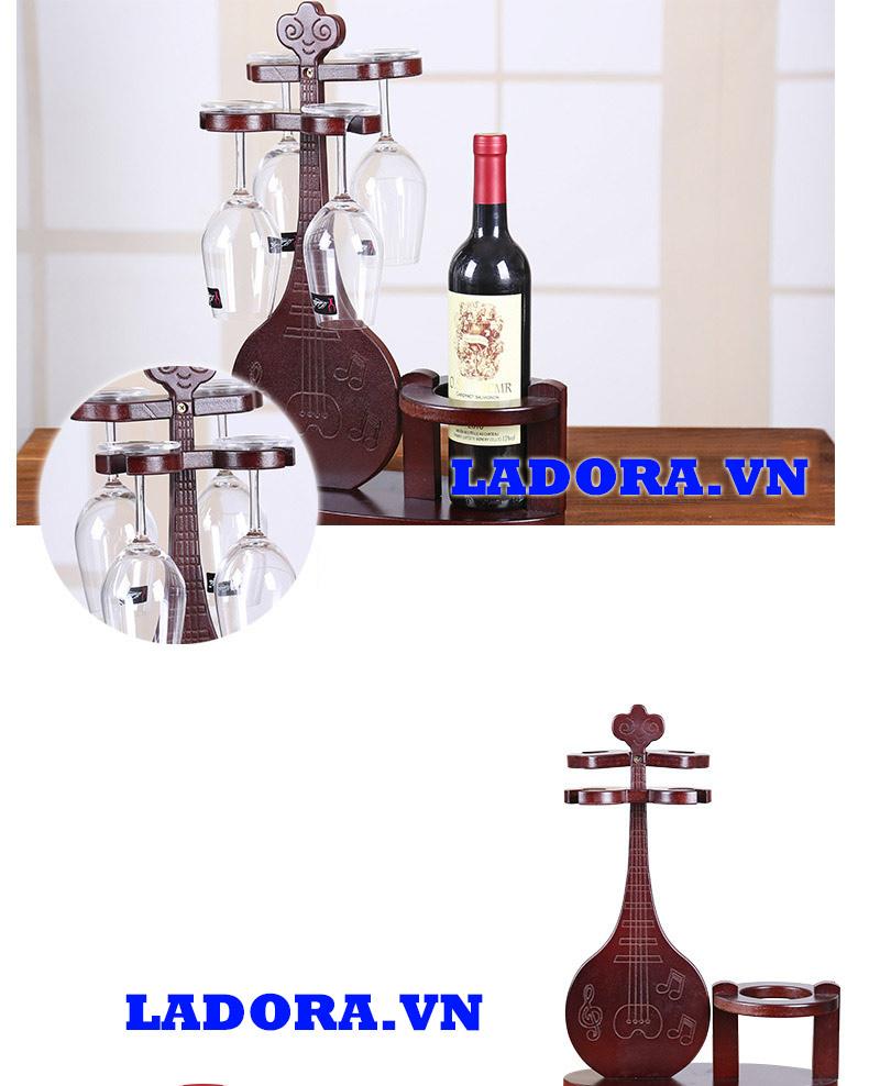 giá treo ly rượu vang bằng gỗ làm quà biếu Sếp rất sang trọng - ladora shop bán đồ trang trí nội thất nhà đẹp ở hà nội
