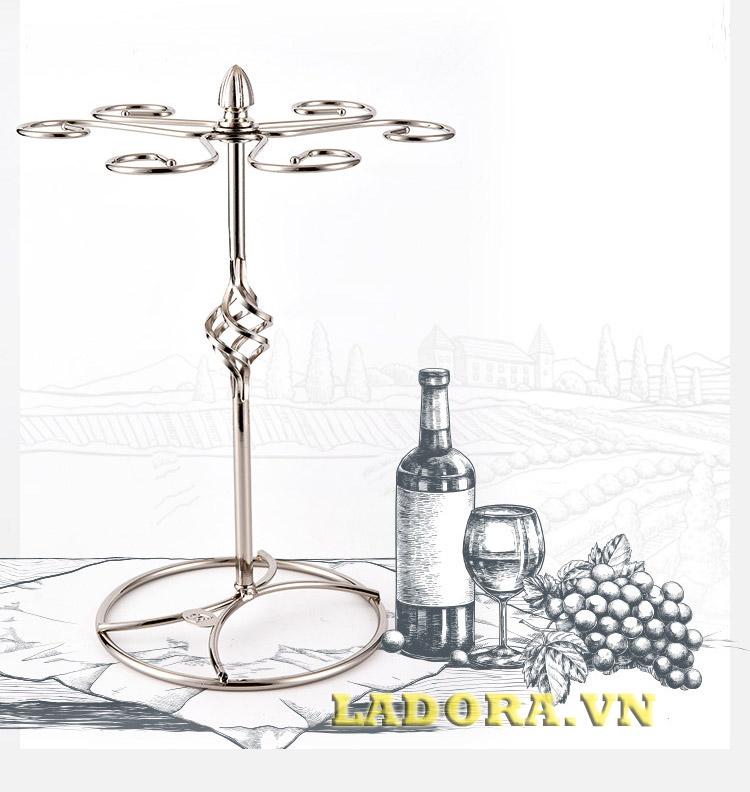 giá treo ly đẹp và tinh tế tại shop bán đồ decor trang trí nhà ladora