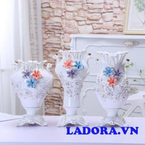 lọ hoa gốm sứ đẹp tại ladora shop bán đồ trang trí nhà ở hà nội