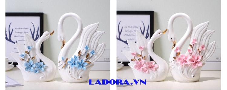 quà mừng cưới ý nghĩa chim thiên nga tại shop bán đồ trang trí nhà ở hà nội ladora