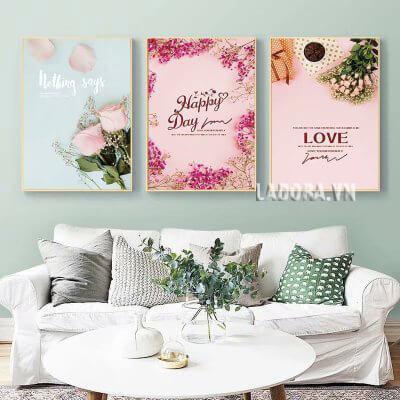 tranh canvas treo tường phòng khách tại ladora shop bán đồ trang trí nhà đẹp ở hà nội