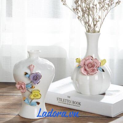 bình hoa gốm tại ladora shop bán đồ trang trí nhà đẹp ở hà nội