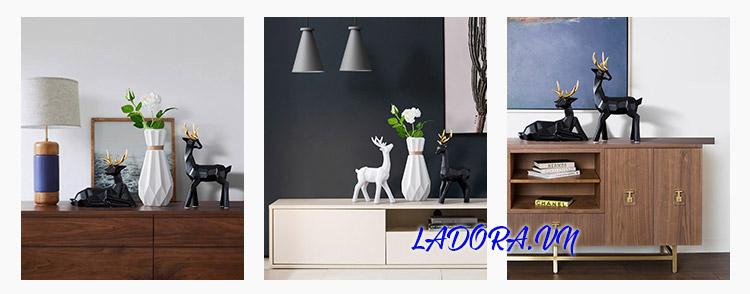 đồ decor phòng khách đẹp tại shop bán đồ trang trí nhà ở hà nội ladora