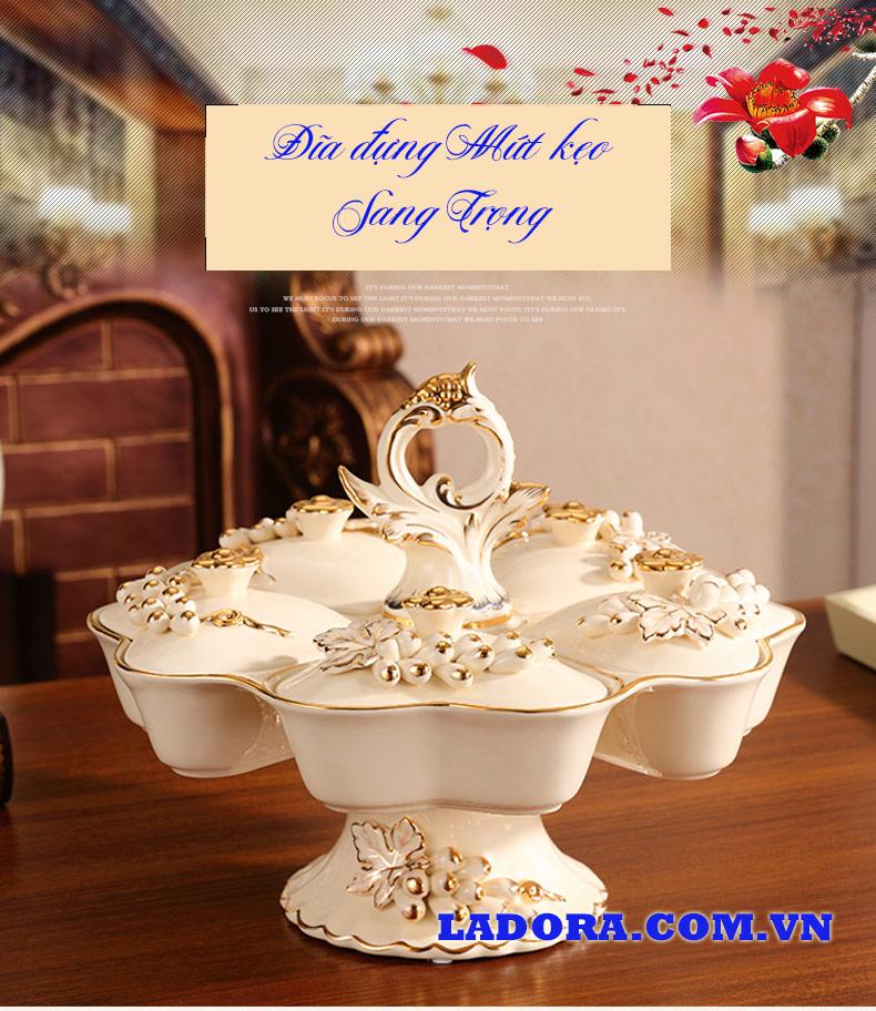 khay đựng bánh kẹo ngày tết đẹp và sang trọng tại Ladora Shop ở hà nội