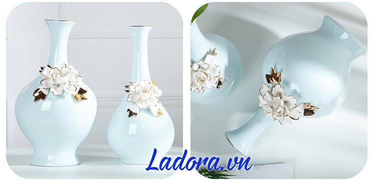 quà tặng đẹp với lọ hoa gốm sứ tại ladora shop ở hà nội