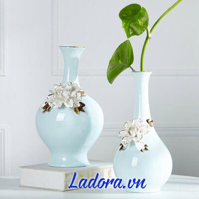 lọ hoa gốm sứ đẹp tại shop bán đồ trang trí nhà đẹp ở hà nội ladora