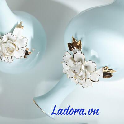 lọ hoa sứ đẹp và xinh xắn tại shop bán đồ trang trí nhà ở hà nội ladora
