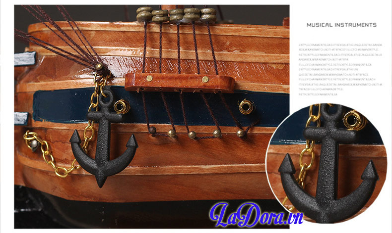 Chi thiết chiếc thuyền buồm tại shop bán đồ trang trí nội thất ladora