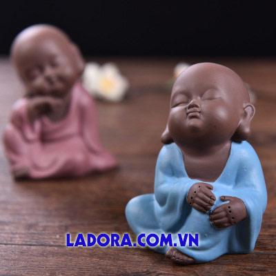 tượng decor 3 chú tiểu ngủ gật tại ladora shop ở hà nội