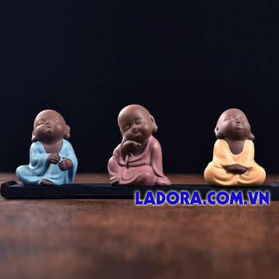tượng decor trang trí - 3 chú tiểu tại ladora.com.vn