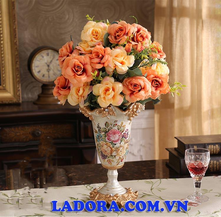 bình hoa đẹp trang trí phòng bếp tân cổ điển tại ladora shop đồ trang trí nhà tại hà nội