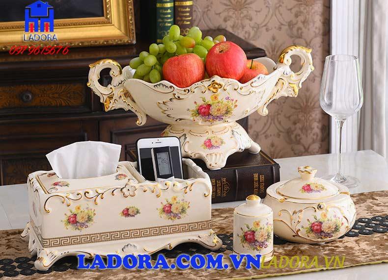 bộ đồ trang trí bàn ăn phòng bếp đẹp tại ladora shop