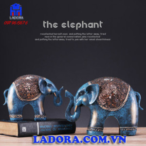 Đồ decor nội thất cặp voi may mắn tại ladora shop